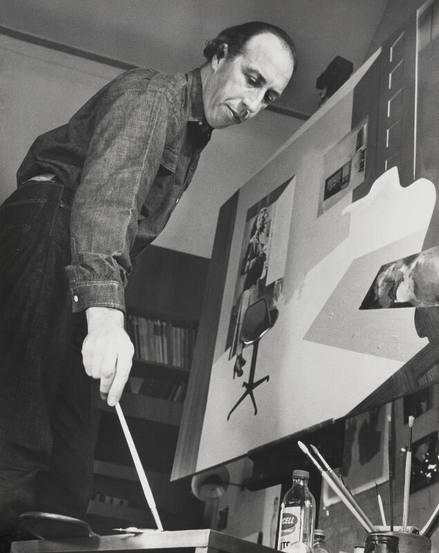 Richard Hamilton, by J.S. Lewinski, 1964 - NPG x13717 - If the sitter is a painter or sculptor: