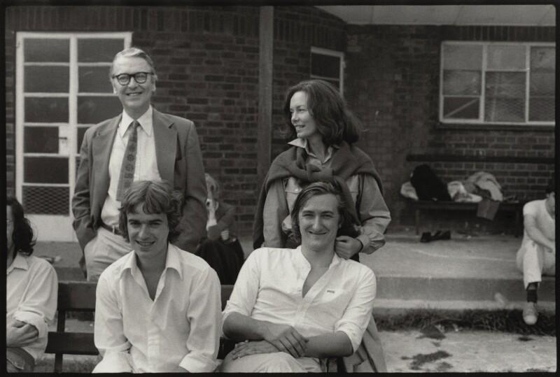 Kingsley Amis; Martin Amis; Pat Kavanagh; Julian Patrick Barnes, by Angela Gorgas, 1978 - NPG x133035 - © Angela Gorgas