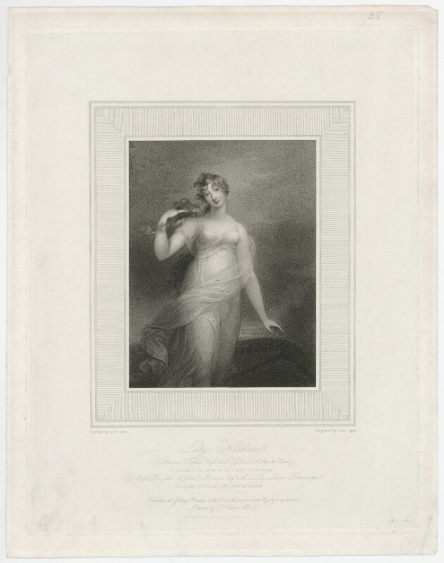 Katherine Sophia, Lady Heathcote, by John Samuel Agar, published by and after  Anne Mee (née Foldsone), published 1 February 1812 - NPG D35660 - © National Portrait Gallery, London