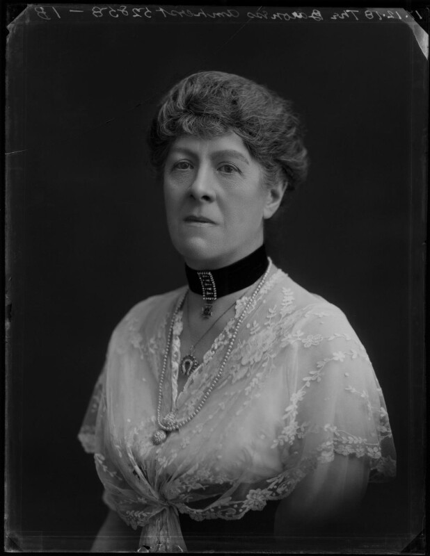 Mary Rothes Margaret Cecil, Baroness Amherst of Hackney, by Bassano Ltd, 17 December 1918 - NPG x154553 - © National Portrait Gallery, London