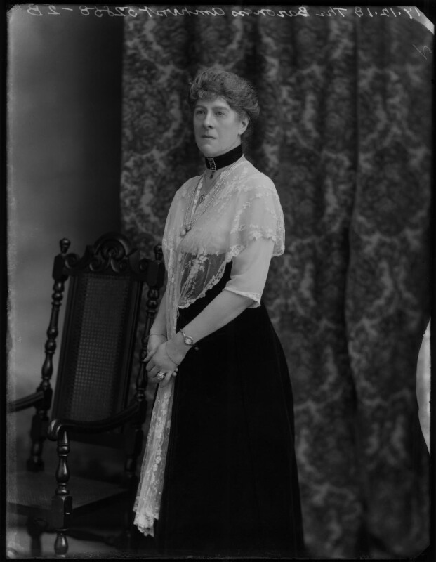 Mary Rothes Margaret Cecil, Baroness Amherst of Hackney, by Bassano Ltd, 17 December 1918 - NPG x154554 - © National Portrait Gallery, London