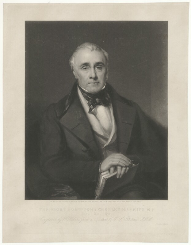 John Charles Herries, by and published by William Walker, after  Sir William Boxall, published 1 March 1853 - NPG D35717 - © National Portrait Gallery, London