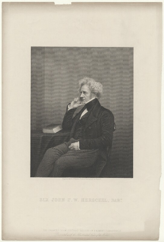 Sir John Frederick William Herschel, 1st Bt, by Daniel John Pound, published by  Illustrated News of the World, after  John Jabez Edwin Mayall, mid 19th century - NPG D35723 - © National Portrait Gallery, London