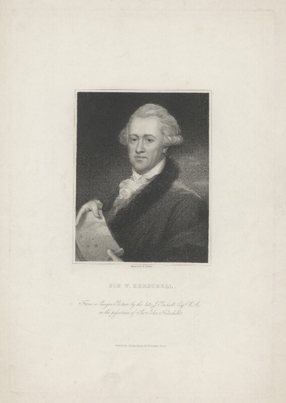 Sir William Herschel, by Edward Scriven, published by  Charles Knight, after  John Russell, early 19th century - NPG D35725 - © National Portrait Gallery, London