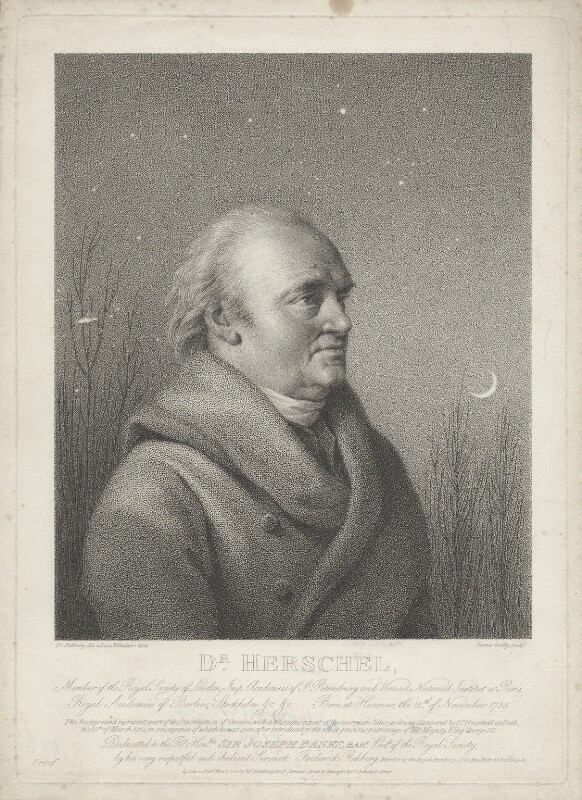 Sir William Herschel, by James Godby, published by  Colnaghi & Co, published by and after  Friedrich Rehberg, published 1 November 1814 (1814) - NPG D35726 - © National Portrait Gallery, London