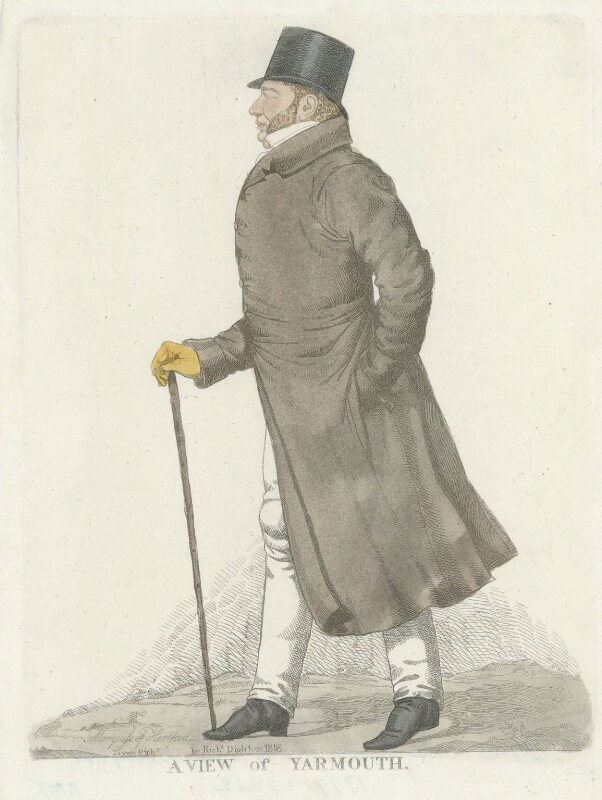 Francis Charles Seymour-Conway, 3rd Marquess of Hertford ('A View of Yarmouth'), by Richard Dighton, reissued by  Thomas McLean, 1818 - NPG D35727 - © National Portrait Gallery, London