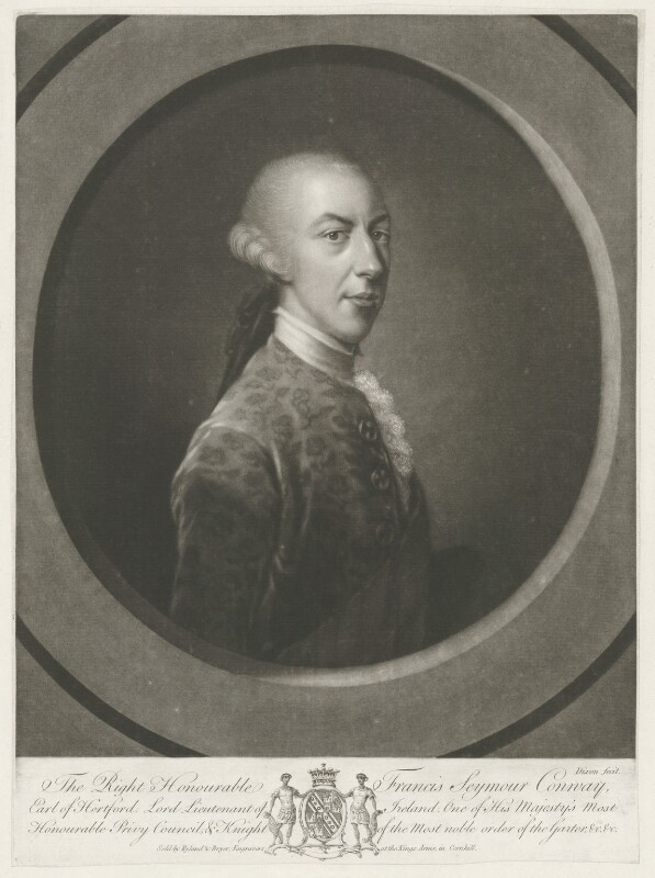 Francis Seymour-Conway, 1st Marquess of Hertford, by John Dixon, sold by  Ryland and Bryer, circa 1767-1772 - NPG D35729 - © National Portrait Gallery, London