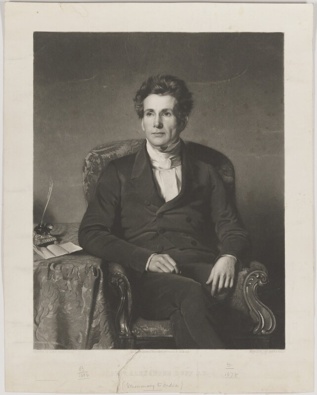 Alexander Duff, by James Faed the Elder, printed by  Macglashan (Macglashon) & Wilding, published by  James Keith, after  John Faed, published November 1851 - NPG D35771 - © National Portrait Gallery, London