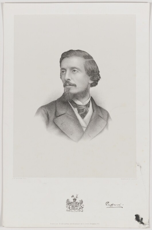 Frederick Temple Hamilton-Temple-Blackwood, 1st Marquess of Dufferin and Ava, by Charles William Walton, published by  Morris & Co, late 19th century - NPG D35777 - © National Portrait Gallery, London