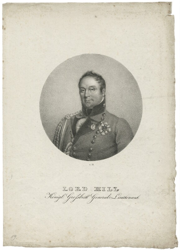 Rowland Hill, 1st Viscount Hill, after George Dawe, circa 1819 - NPG D35822 - © National Portrait Gallery, London