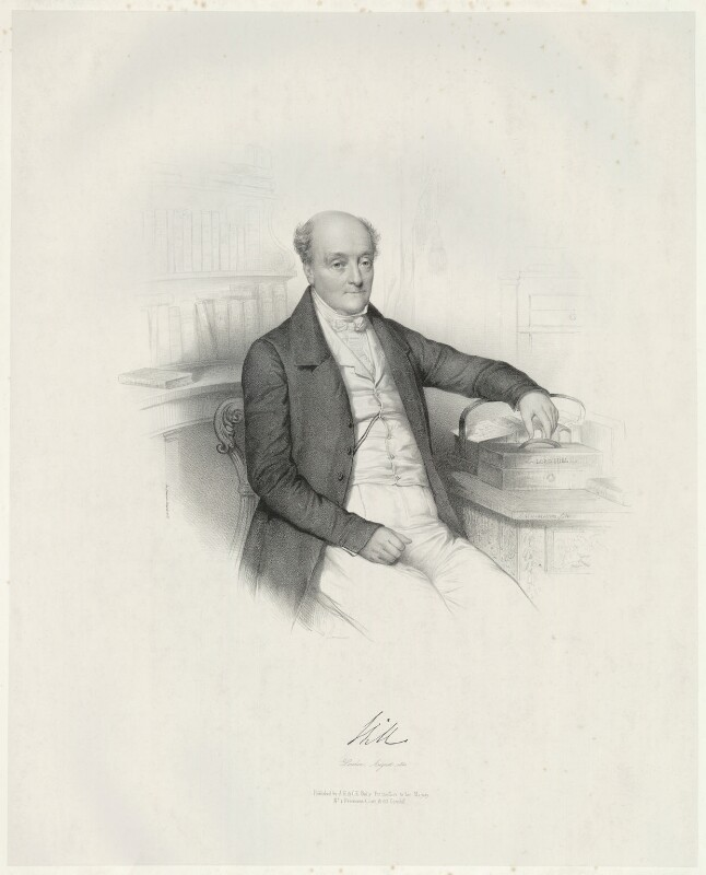 Rowland Hill, 1st Viscount Hill, by Émile Desmaisons, printed by  Lemercier Bernard et Cie, published by  A.H. & C.E. Baily, August 1841 - NPG D35826 - © National Portrait Gallery, London