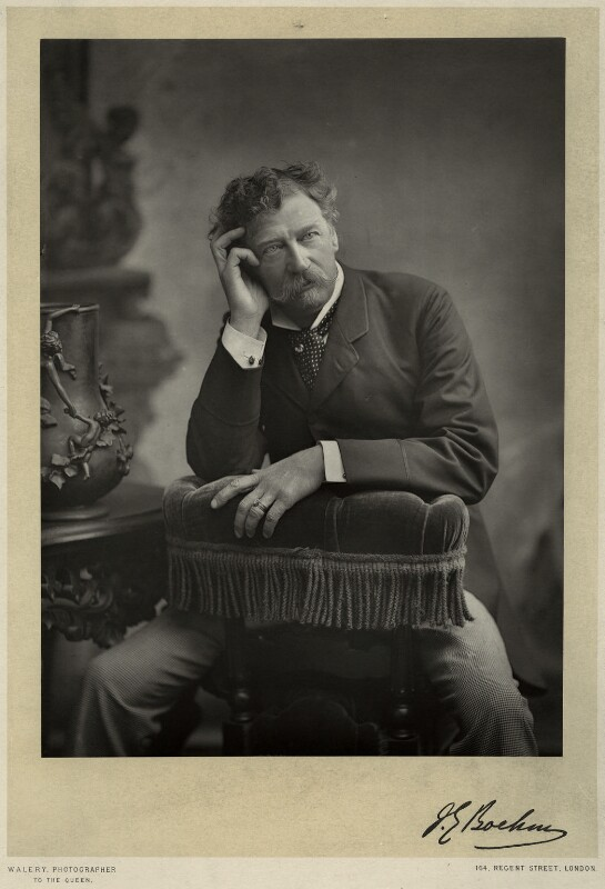 Sir Joseph Edgar Boehm, 1st Bt, by Walery, published by  Sampson Low & Co, published January 1889 - NPG x9110 - © National Portrait Gallery, London