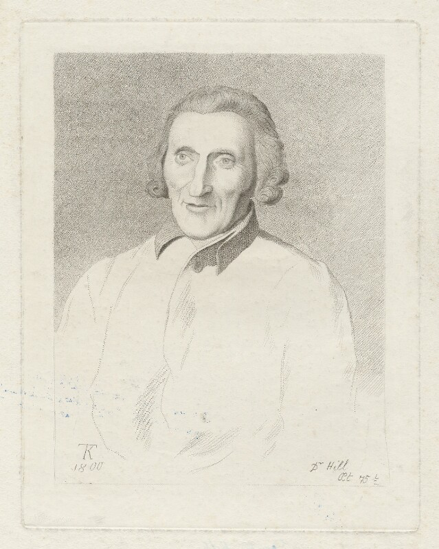 Dr Hill, by Thomas Kerrich, 1800 - NPG D35849 - © National Portrait Gallery, London