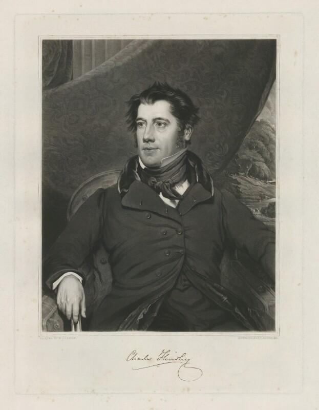 Charles Hindley, by Samuel William Reynolds Jr, published by  Agnew & Zanetti, after  Benjamin Garside, published 1837 - NPG D35861 - © National Portrait Gallery, London