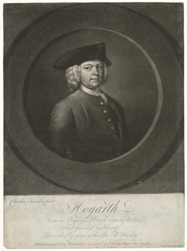 William Hogarth, by and published by Charles Townley, after  William Hogarth, published June 1781 - NPG D35900 - © National Portrait Gallery, London