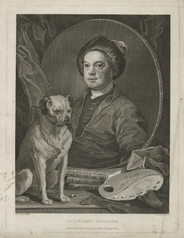 William Hogarth, by Thomas Cook, published by  George, George and John Robinson, after  William Hogarth, published 1 June 1801 (1745) - NPG D35902 - © National Portrait Gallery, London