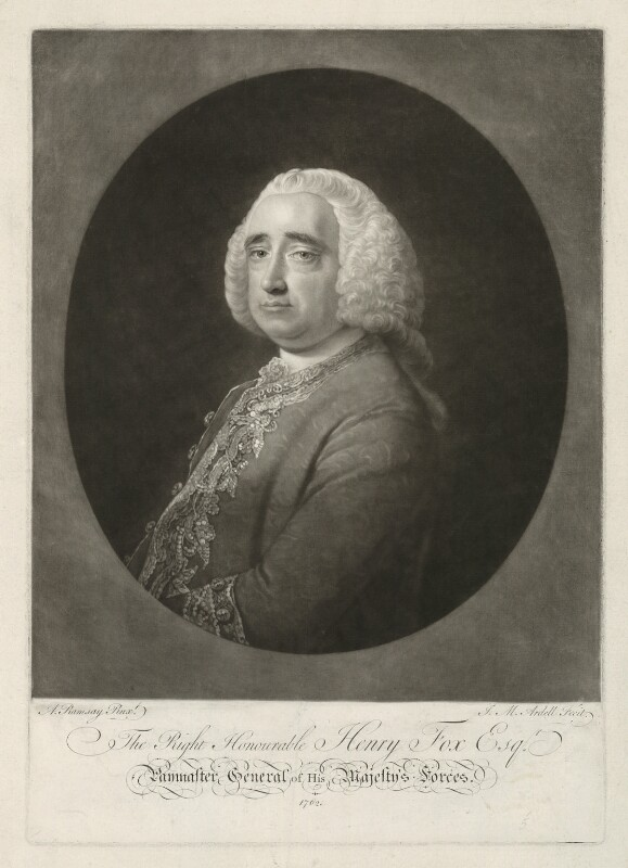 Henry Fox, 1st Baron Holland, by James Macardell, after  Allan Ramsay, 1762 - NPG D35914 - © National Portrait Gallery, London