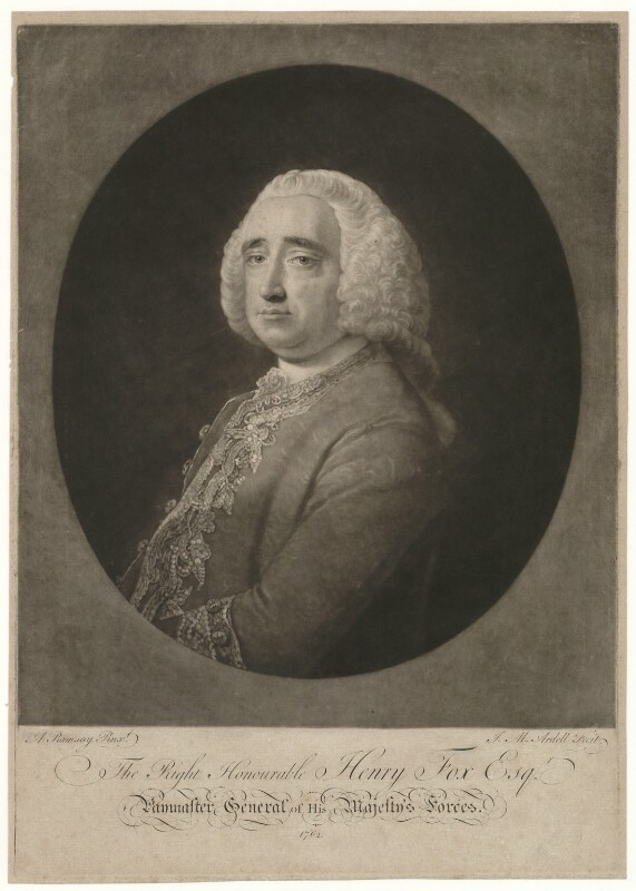 Henry Fox, 1st Baron Holland, by James Macardell, after  Allan Ramsay, 1762 - NPG D35915 - © National Portrait Gallery, London