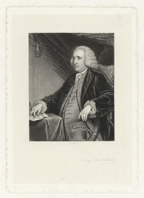 Henry Fox, 1st Baron Holland, by Stephen Henry Gimber, after  Sir Joshua Reynolds, (circa 1762) - NPG D35916 - © National Portrait Gallery, London