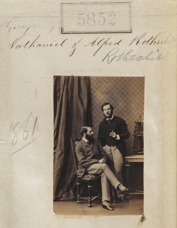 Nathaniel Mayer ('Natty') de Rothschild, 1st Baron Rothschild; Alfred Charles de Rothschild, by Camille Silvy, 22 September 1861 - NPG Ax55806 - © National Portrait Gallery, London