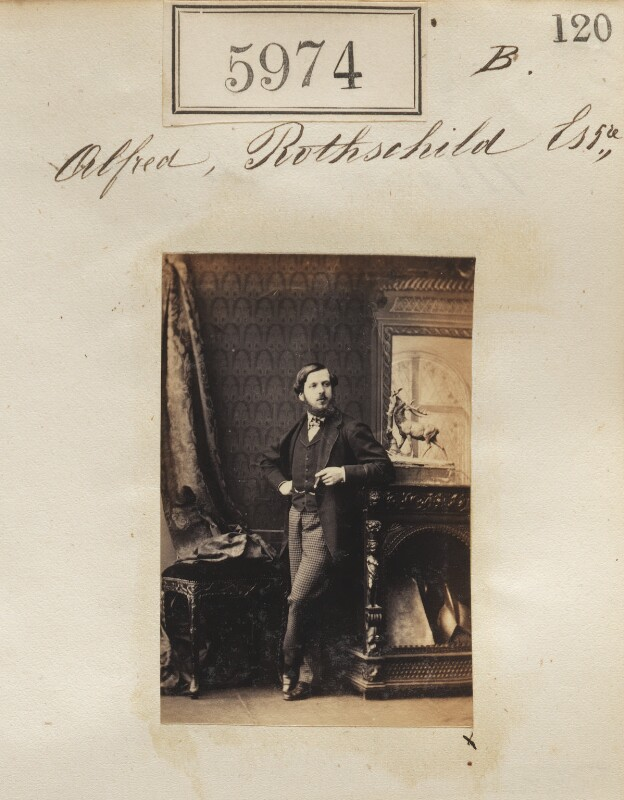 Alfred Charles de Rothschild, by Camille Silvy, 2 October 1861 - NPG Ax55929 - © National Portrait Gallery, London
