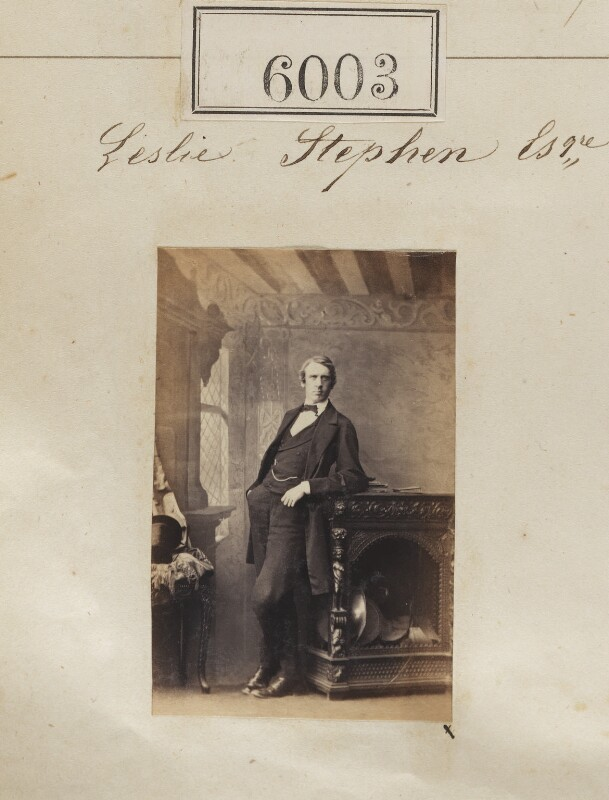 Sir Leslie Stephen, by Camille Silvy, 9 October 1861 - NPG Ax55957 - © National Portrait Gallery, London