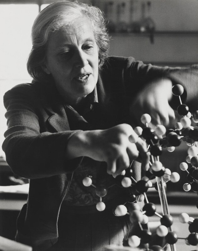 Dorothy Hodgkin, by Jorge ('J.S.') Lewinski, 1967 - NPG x13727 - If the sitter is a painter or sculptor: