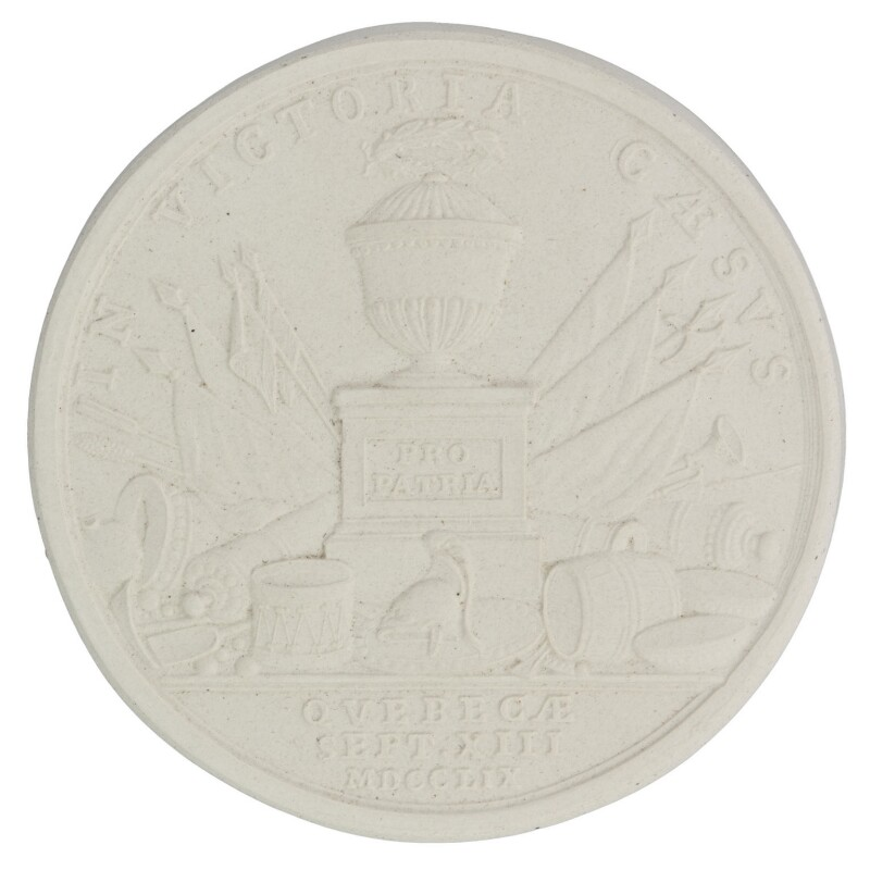 Reverse of a medal commemorating James Wolfe's death at Quebec, by John Kirk, after  Isaac Gosset, (1759) - NPG D36114 - © National Portrait Gallery, London