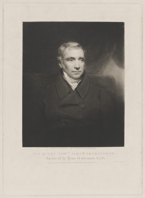 James Abercromby, 1st Baron Dunfermline, by and published by William Walker, after  John Jackson, published June 1835 - NPG D36031 - © National Portrait Gallery, London