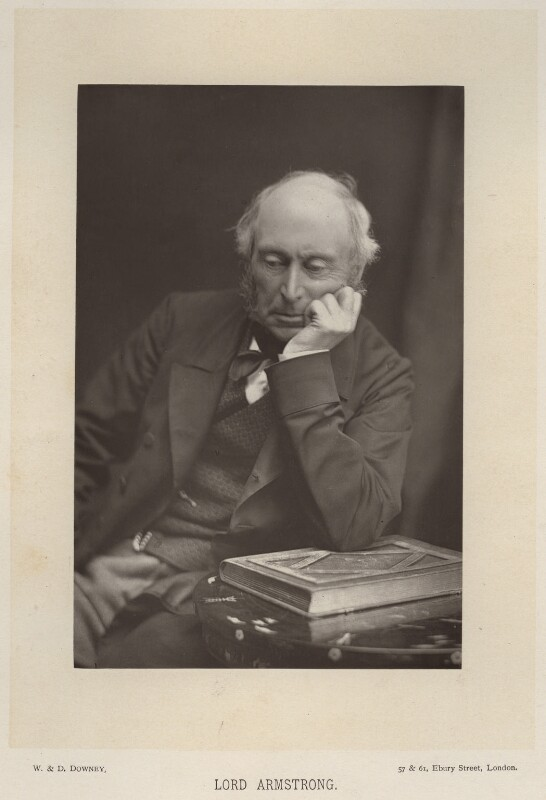 William George Armstrong, Baron Armstrong, by W. & D. Downey, published by  Cassell & Company, Ltd, published 1890 - NPG x101 - © National Portrait Gallery, London