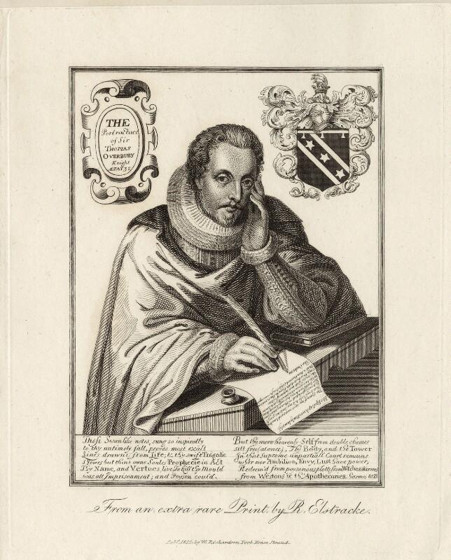 Sir Thomas Overbury, published by William Richardson, after  Renold or Reginold Elstrack (Elstracke), published 1812 - NPG D27974 - © National Portrait Gallery, London