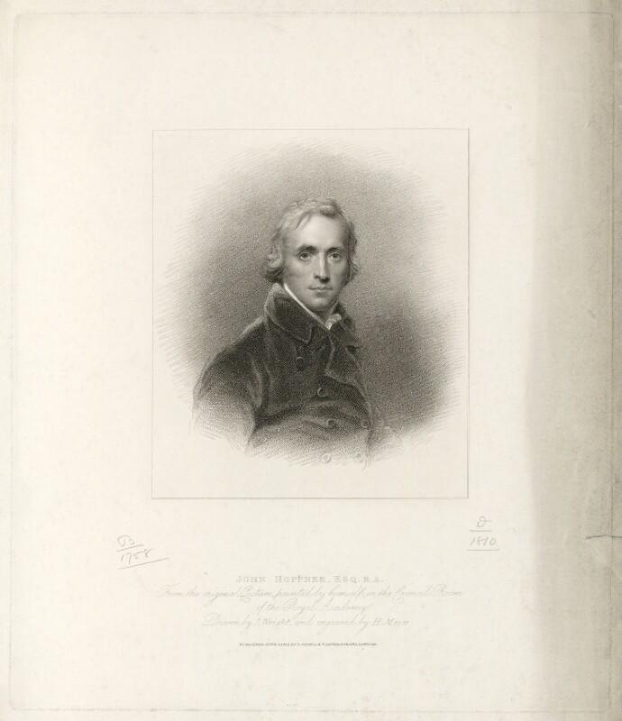 John Hoppner, by Henry Meyer, published by  T. Cadell & W. Davies, after  John Wright, after  John Hoppner, published 4 June 1812 (circa 1800) - NPG D35987 - © National Portrait Gallery, London