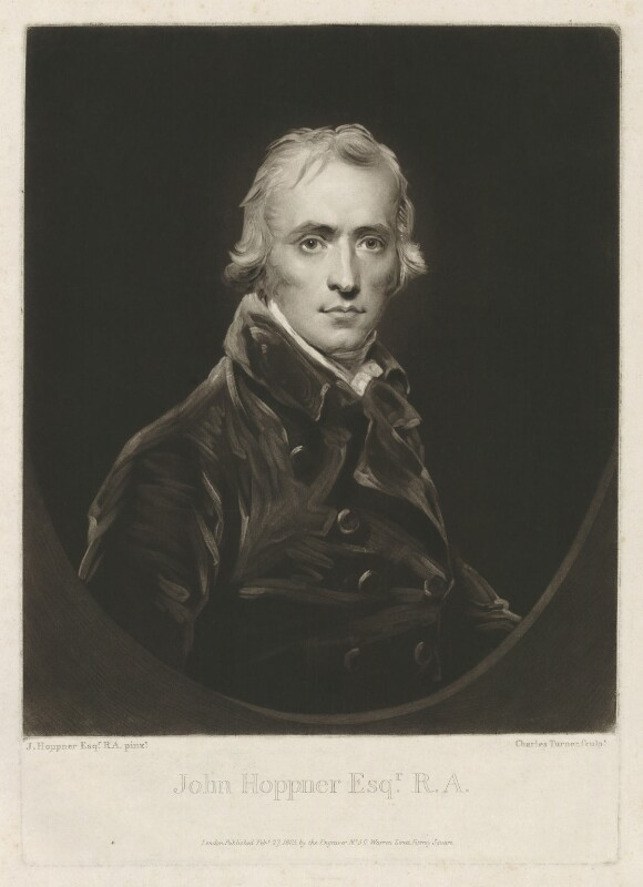 John Hoppner, by and published by Charles Turner, after  John Hoppner, published 27 February 1805 (circa 1800) - NPG D35989 - © National Portrait Gallery, London
