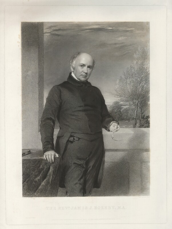 James John Hornby, by Samuel Bellin, printed by  W. Hatton, published by  Thomas Agnew & Sons Ltd, after  George Richmond, published 1 August 1852 - NPG D35992 - © National Portrait Gallery, London