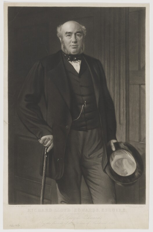 Richard Lloyd Edwards, by Thomas Oldham Barlow, after  Henry Tanworth Wells, 1868 - NPG D36078 - © National Portrait Gallery, London
