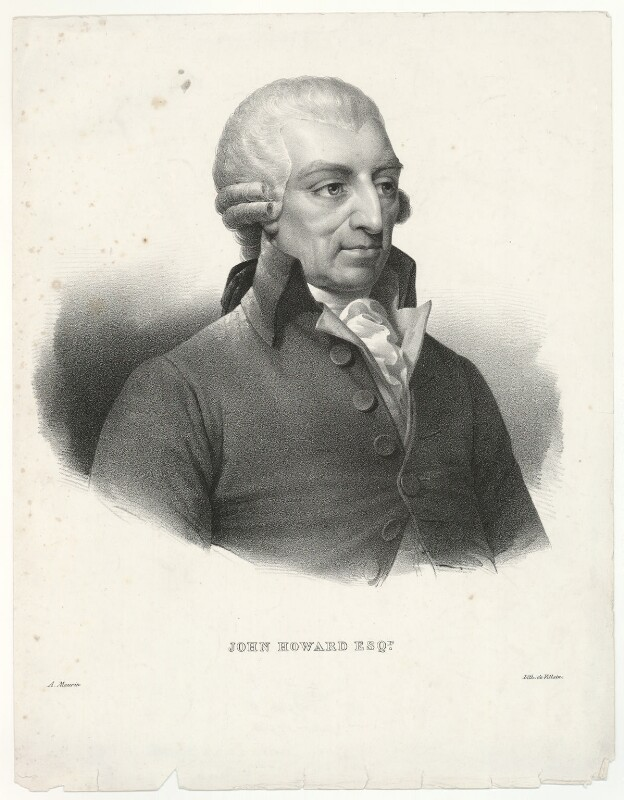 John Howard, by Antoine Maurin, printed by  François Le Villain, after  Mather Brown, 1820s-1830s (1789) - NPG D36011 - © National Portrait Gallery, London