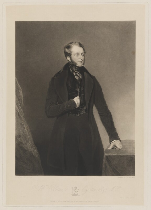 William Tatton Egerton, 1st Baron Egerton of Tatton, by Charles Turner, printed by  Brooker & Harrison, published by  Thomas Agnew, after  John Bostock, published 1 October 1840 - NPG D36082 - © National Portrait Gallery, London