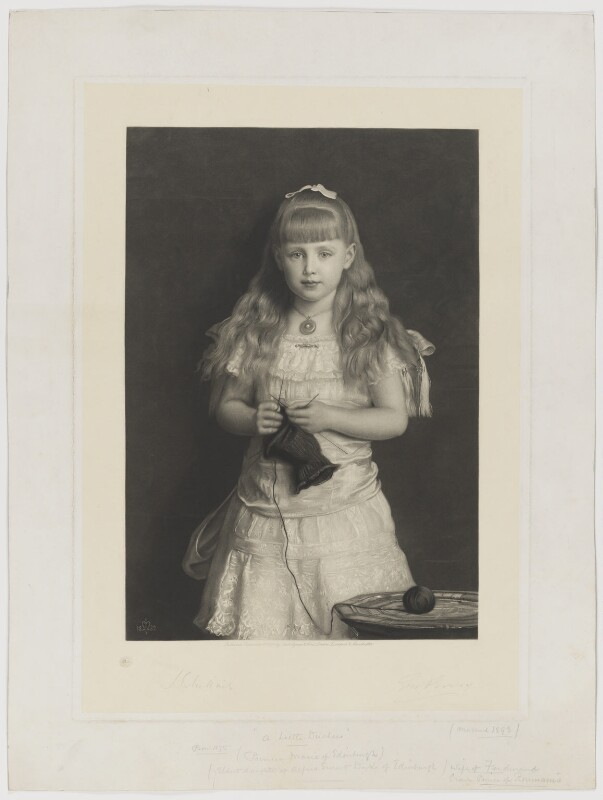 'Princess Marie of Edinburgh' (Marie, Queen of Romania), by George H. Every, published by  Thomas Agnew & Sons Ltd, after  Sir John Everett Millais, 1st Bt, published 1 September 1884 (1882) - NPG D36097 - © National Portrait Gallery, London