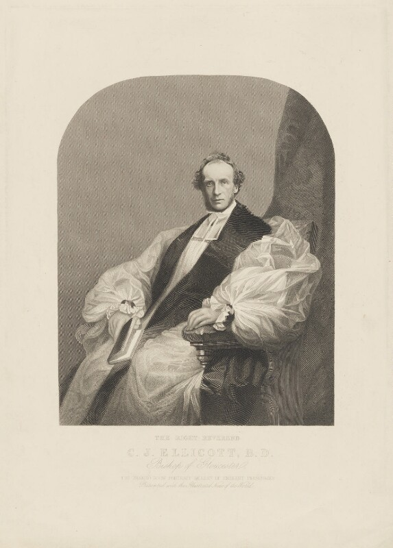 Charles John Ellicott, by Unknown artist, 1863 or after - NPG D36157 - © National Portrait Gallery, London
