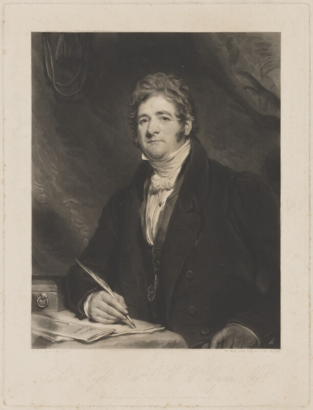 Charles Watkin Williams Wynn, by William Ward, published by  Colnaghi & Co, after  Sir Martin Archer Shee, published August 1835 - NPG D36226 - © National Portrait Gallery, London