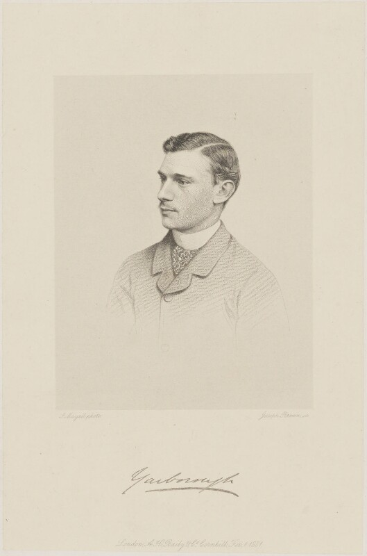 Charles Alfred Worsley Pelham, 4th Earl of Yarborough, by Joseph Brown, published by  A.H. Baily & Co, after  John Jabez Edwin Mayall, published 1 February 1881 - NPG D36229 - © National Portrait Gallery, London
