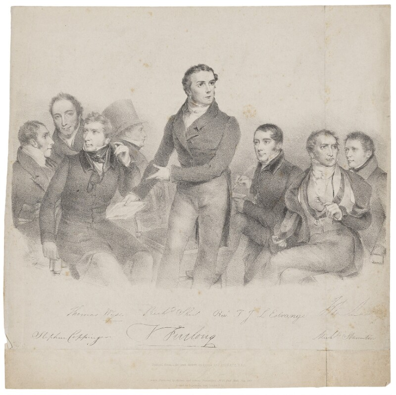 The Munster Catholic Association, by Joseph Patrick Haverty, printed by  Engelmann, Graf, Coindet & Co, published by  Molteno & Graves, published July 1829 - NPG D36230 - © National Portrait Gallery, London