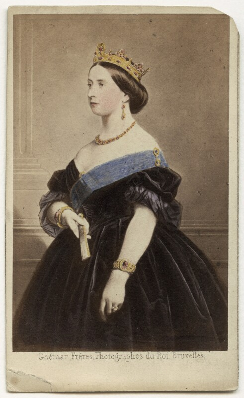 Queen Victoria, by Ghémar Frères, after  Unknown engraver, 1861 - NPG x13972 - © National Portrait Gallery, London