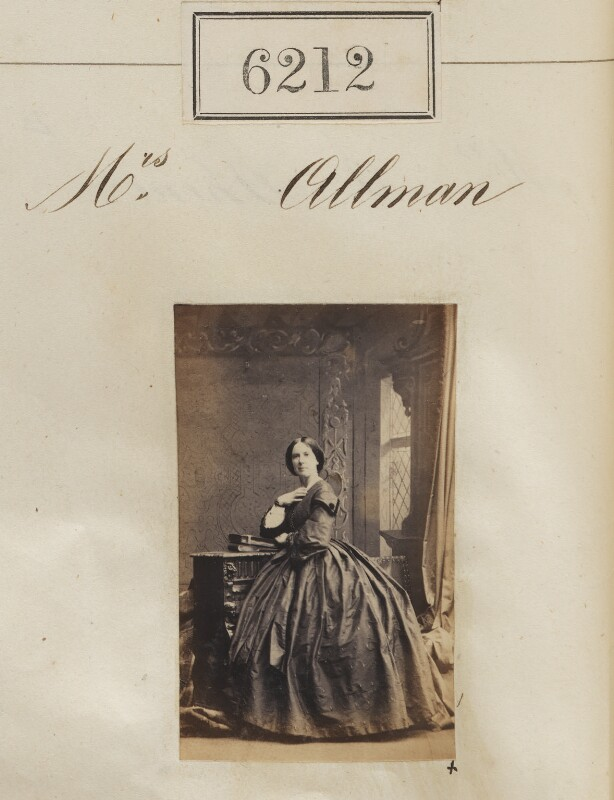 Hannah Louisa Allman (née Shaen), by Camille Silvy, 26 October 1861 - NPG Ax56158 - © National Portrait Gallery, London