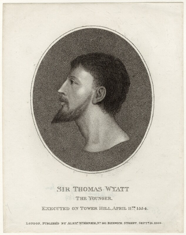 Sir Thomas Wyatt, published by Alexander McKenzie, published 15 September 1800 - NPG D36323 - © National Portrait Gallery, London