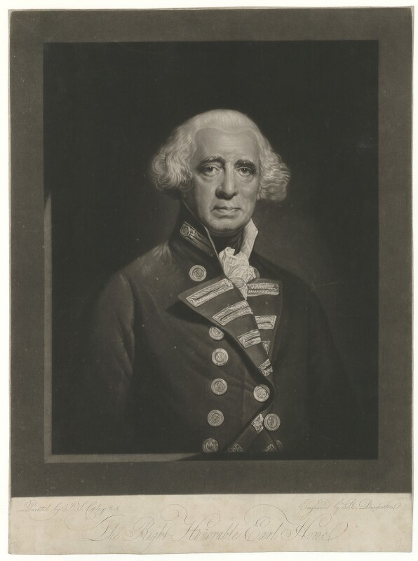 Richard Howe, 1st Earl Howe, by Robert Dunkarton, after  John Singleton Copley, (circa 1790) - NPG D36352 - © National Portrait Gallery, London