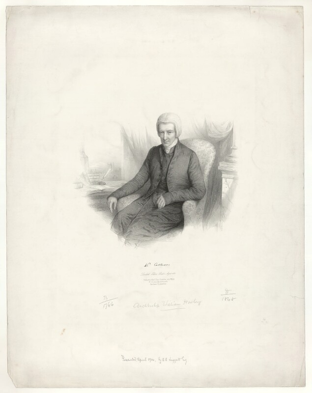 William Howley, by Émile Desmaisons, published by  A.H. & C.E. Baily, August 1841 - NPG D36361 - © National Portrait Gallery, London