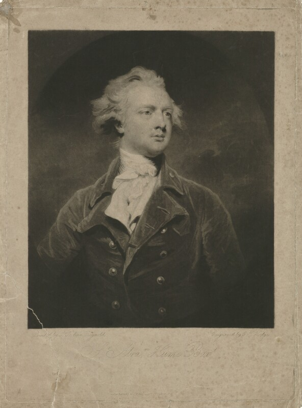 Sir Abraham Hume, 2nd Bt, by Charles Howard Hodges, after  Sir Joshua Reynolds, published 12 June 1791 (1783) - NPG D36374 - © National Portrait Gallery, London