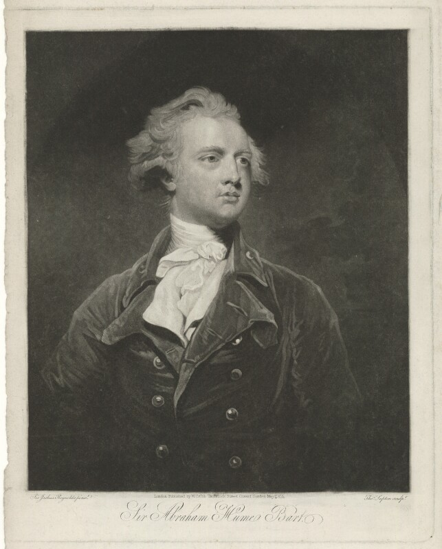 Sir Abraham Hume, 2nd Bt, by Thomas Goff Lupton, published by  William Cribb, after  Sir Joshua Reynolds, published 1 May 1814 (1783) - NPG D36375 - © National Portrait Gallery, London