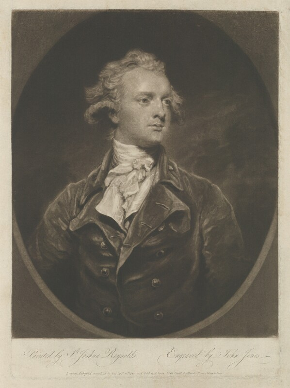 Sir Abraham Hume, 2nd Bt, by and published by John Jones, after  Sir Joshua Reynolds, published 13 September 1783 (1783) - NPG D36376 - © National Portrait Gallery, London
